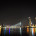 Rotterdam night view to Maas river and Erasmus bridge